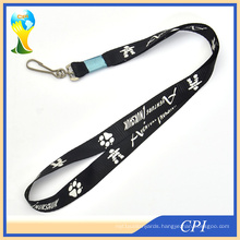 Fashion Standard J Hook Lanyard with Metal Crimp